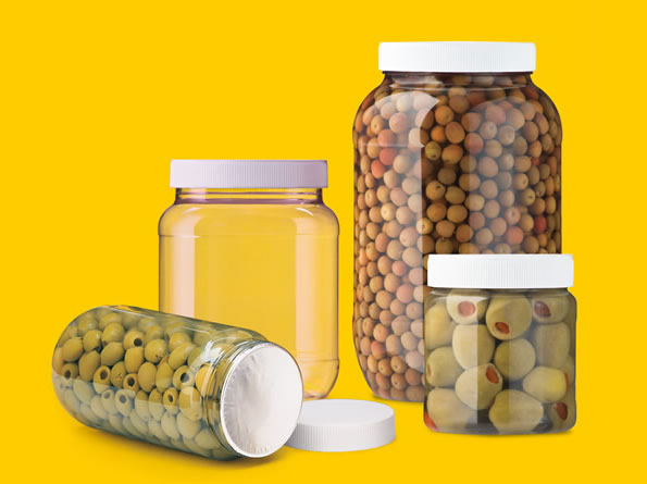 PET containers of superb transparency  and low weight